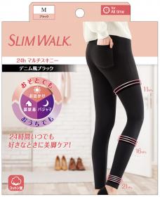スリムウォーク 24h マルチスキニー デニム風ブラックの商品画像