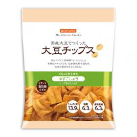 「大豆チップス ゆずこしょう(株式会社ビオクラ食養本社)」の商品画像