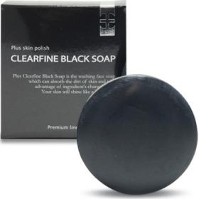 「プリュ クリアファイン ブラック ソープ(90g)(スタイルクリエイト株式会社)」の商品画像の1枚目