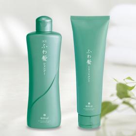 富士産業株式会社の取り扱い商品「薬用ふわ髪シャンプー & ふわ髪トリートメント」の画像