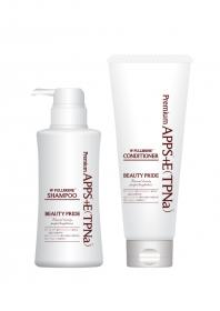 「WF(ダブルフラーレン)モイスチャーシャンプー&コンディショナーセット(フラーレン化粧品 ビタミンC誘導体 BEAUTY MALL)」の商品画像