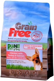 「プラペ!(小型・中型犬用) グレインフリー チキン、ターキー&サーモン(プラネットペット 株式会社)」の商品画像