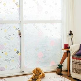 【kraso】窓いっぱいのお花畑 花咲くウィンドウデコ 断熱シートの会