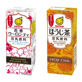 「豆乳飲料 花香ウーロンティ・ほうじ茶(マルサンアイ株式会社)」の商品画像