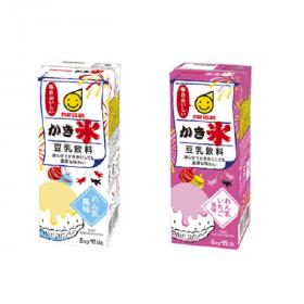 豆乳飲料かき氷 れん乳風味・れん乳いちご風味の商品画像