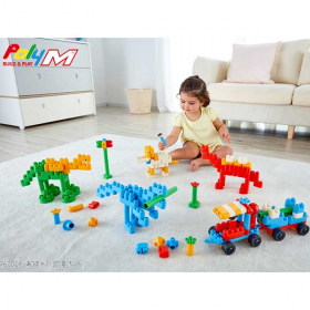 知育ブロック PolyM ポリエム あつまれ!恐竜セットの商品画像