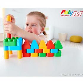 「知育ブロック PolyM ポリエム おうちをつくろうセット(PolyM ポリエム)」の商品画像