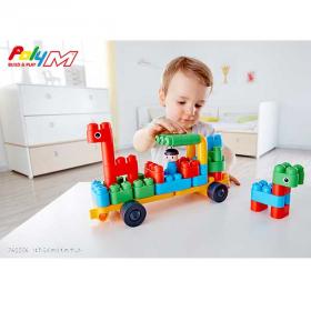 「知育ブロック PolyM ポリエム はたらくのりものセット(PolyM ポリエム)」の商品画像