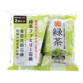 「ファミリー緑茶石鹸2個パック(株式会社ペリカン石鹸)」の商品画像