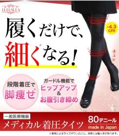 履くだけで細くなる『ルルスラ メディカル着圧タイツ』の口コミ(クチコミ)情報の商品写真