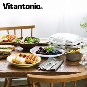 株式会社mhエンタープライズの取り扱い商品「Vitantonio ワッフル&ホットサンドベーカー(ホワイト/ブラック)」の画像