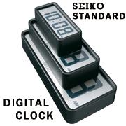 「【F.O.B COOP】SEIKOスタンダード デジタルクロック-BK/12cm(F.O.B COOP)」の商品画像