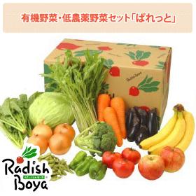 「有機野菜・低農薬野菜のセット「ぱれっと」(らでぃっしゅぼーや株式会社)」の商品画像