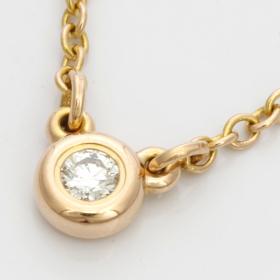 「TIFFANY&Co  K18PG ダイヤモンド バイザヤード ネックレス(K-GOLDインターナショナル)」の商品画像