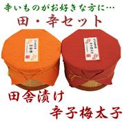 豪華南高梅セット(田舎漬け&辛子明太子)の商品画像